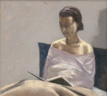 Woman Reading artwork