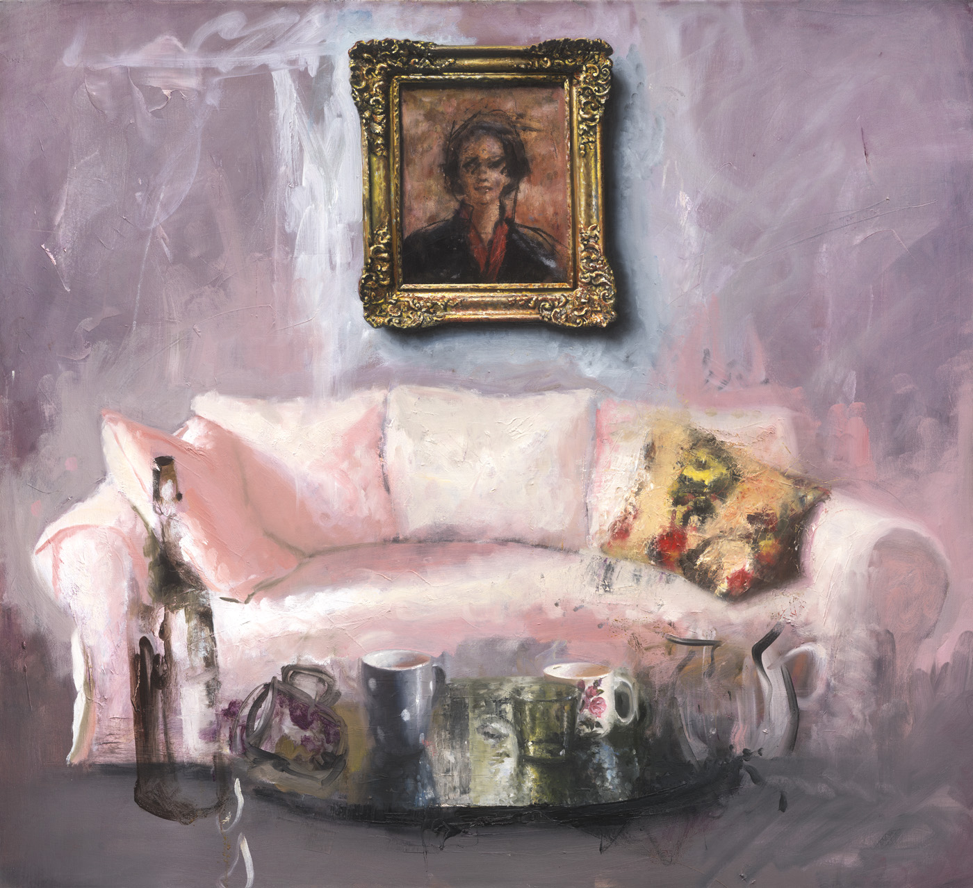 Match the painting to the sofa
