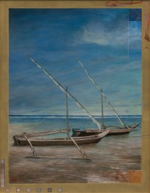 My Boat in Mombasa, Kenya artwork
