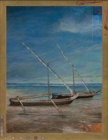 My Boat in Mombasa, Kenya artwork