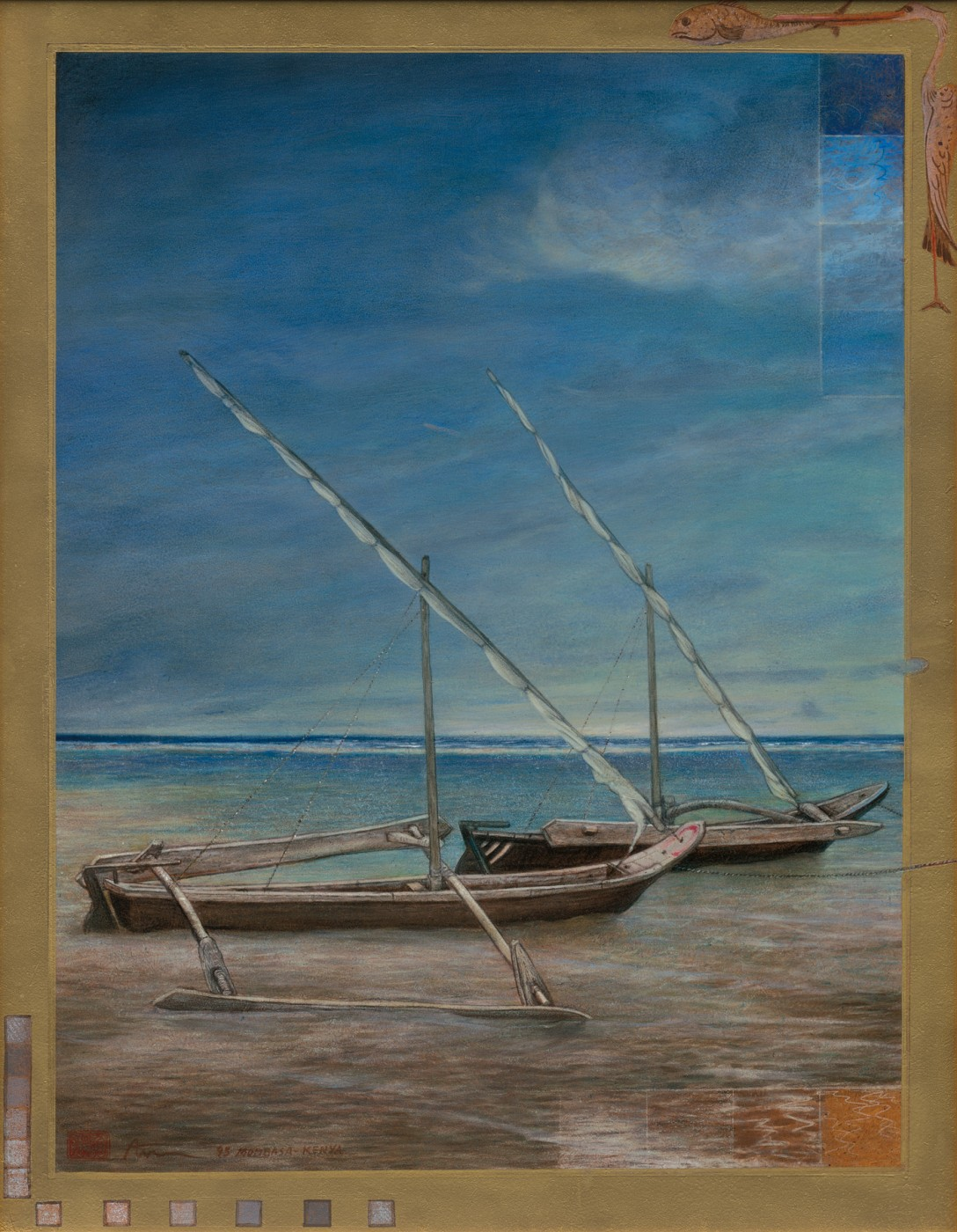 My boat in Mombasa, Kenya