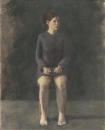Self Portrait Sitting artwork