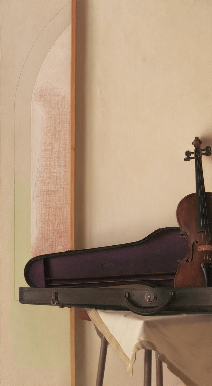 Yearning Painting II, Violin, Broken Key