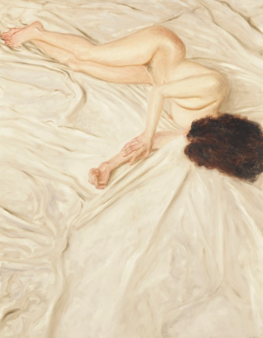 Nude on a sheet