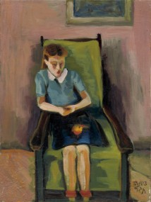 Sitting girl artwork