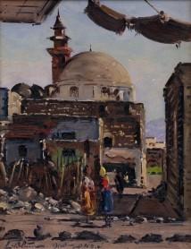 The Market in Tiberias artwork