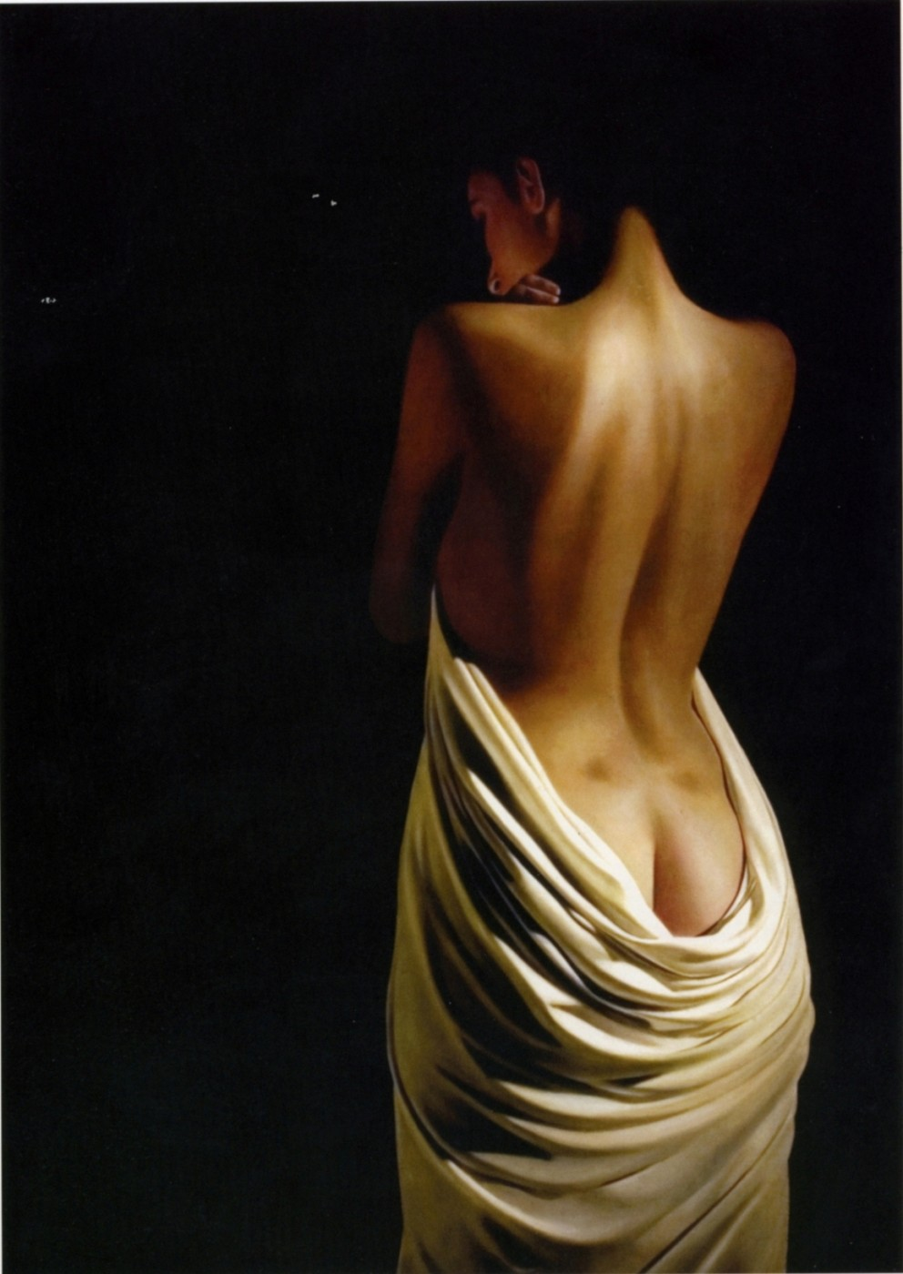 Nude with white drape