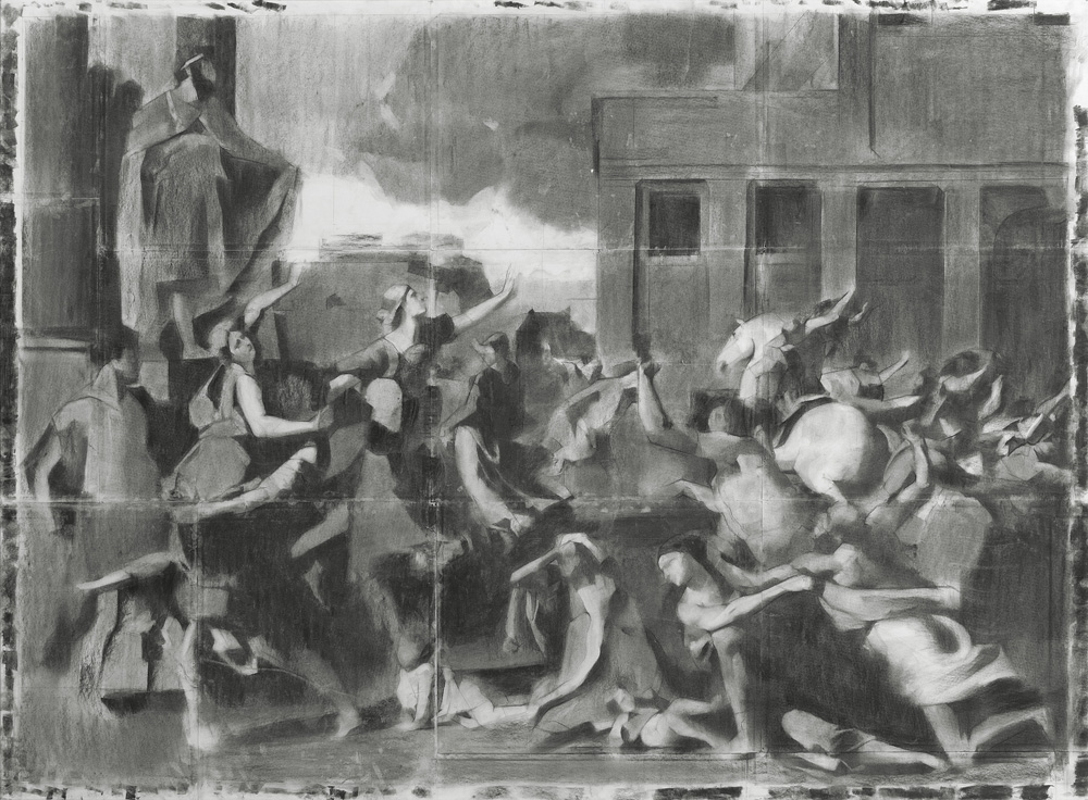After poussin, the rape of the sabin women
