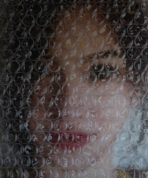 Sophia Behind Bubble Wrap artwork
