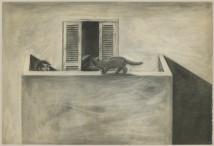 Cat on the Balcony artwork