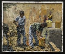 Yellow Jerrycans Relief artwork